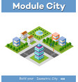 isometric set module city vector image vector image