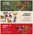 italian culture and symbols on internet promo vector image vector image