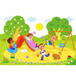 kids at the playground vector image vector image