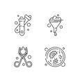 laboratory tools linear icons set vector image vector image