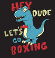let s go boxing vector image vector image