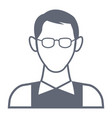 man with glasses avatar vector image vector image
