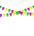 Mardi Gras party bunting flag vector image