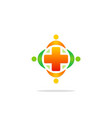 medicine cross hospital colored logo vector image vector image