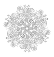 mehndi mandala with butterflies on meadow vector image vector image
