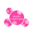 merry christmas christmas balls with snowflakes vector image vector image