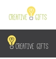 minimalistic gifts store logotype vector image