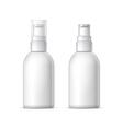 Mock up Shaving gel foam light gray vector image vector image