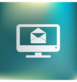 monitor letter envelope mail icon vector image vector image