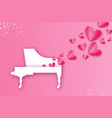 music of love music pink heart shape white grand vector image vector image