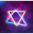 Neon Poster Retro 1980s Style Disco Background vector image vector image