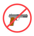 no weapons or weapons are not allowed vector image