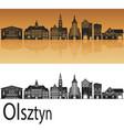 olsztyn skyline vector image vector image