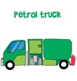 Petrol truck cartoon for kids vector image vector image