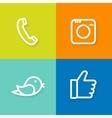 phone camera bird hand icon set vector image vector image