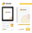 pie chart business logo tab app diary pvc vector image vector image