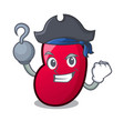 pirate jelly bean character cartoon vector image vector image