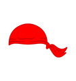 pirates red bandana cap isolated hat buccaneer vector image vector image