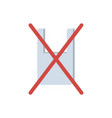 plastic bag stop symbol vector image