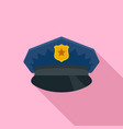 police cap icon flat style vector image