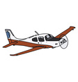 Propeller airplane vector image vector image
