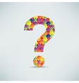 Question mark puzzle background vector image
