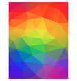 rainbow colors abstract geometric background vector image vector image