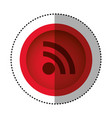 red round symbol wifi connection icon vector image vector image