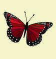 red winged butterfly vector image