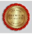 round golden badge label with text vector image vector image