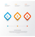 school icons set collection of academy vector image