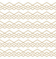 seamless pattern with golden zigzag line ornament vector image vector image