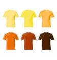 shirt design template set men t yellow vector image