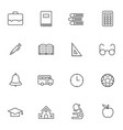 simple education icon sets line icons vector image vector image