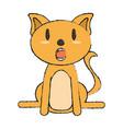 smiling pet cat vector image