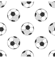 Soccer balls seamless pattern in black and white vector image vector image