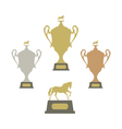 Sports trophies vector image