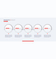 stylish infographic concept template five vector image vector image
