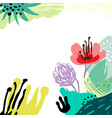 stylized background hand-drawn vector image vector image