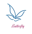 Stylized butterfly icon vector image vector image