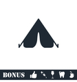 Tent icon flat vector image
