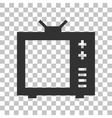 TV sign Dark gray icon on vector image vector image
