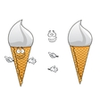 Twirling ice cream in a sugar cone vector image