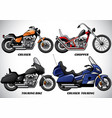 types of motorcycle part 3 vector image vector image