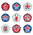 uk badges vector image vector image