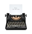 vintage typewriter isolated editable vector image