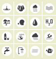 water icons for web vector image