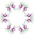 Watercolor of Magnolia Flowers vector image vector image