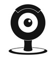 web camera icon simple style vector image vector image