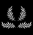 white olive branches with leaves and wreath vector image vector image